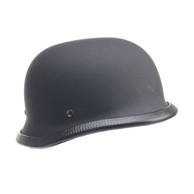 Duitse motorhelm mat zwart