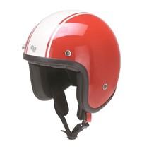 RB-757 bologna open face helmet red-white