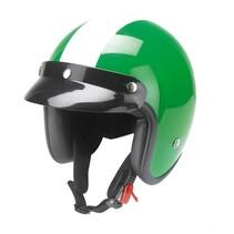 RB-753 retro open face helmet green-white