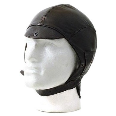 Halcyon brown leather aviator cap