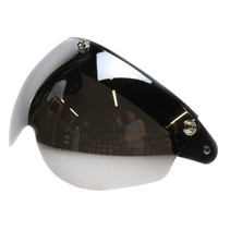 Flip up 3 button goggle silver reflection