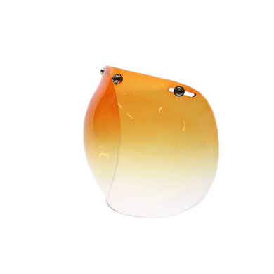Bubble visor gradient orange