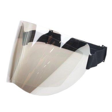 Shield visor chrome