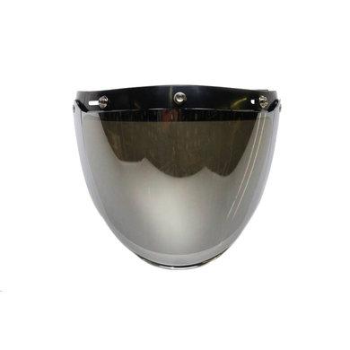 U flip up 3 knop vizier zilver reflectie