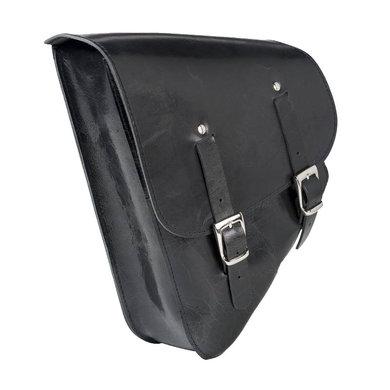 Grand Canyon black leather motor saddle bag triangle | 10 L
