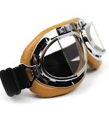 CRG creme pilot goggles