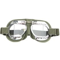 mark 49 groen pilotenbril helder glas