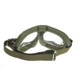 Halcyon mark 49 green pilot goggles clear glass