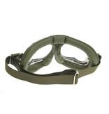 Halcyon mark 49 groen pilotenbril helder glas