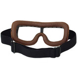 CRG brown leather cruiser motor goggles