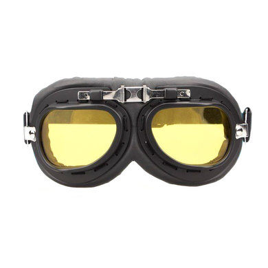CRG black-chrome motor goggles