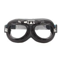 black-chrome motor goggles