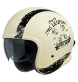 IXS 880 2.0 jet helmet ivory white - black