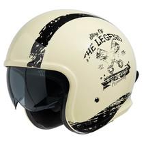 880 2.0 jet helmet ivory white - black