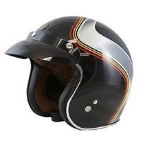 T50 Luminous black jet helmet