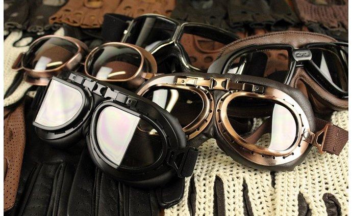 Motorbrillen Engels