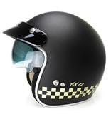 IXS HX 77 2.0 race jet helmet matt black - white