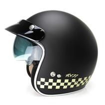 HX 77 2.0 race jet helmet matt black - white