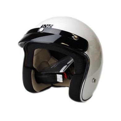 IXS HX 77 jet helmet with visor | white
