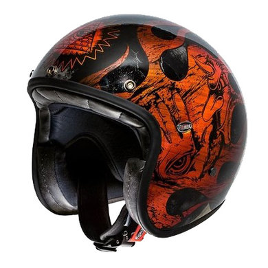 Premier le petit BD orange chromed jet helmet
