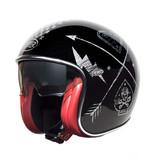 Premier vintage NX silver chromed jet helmet