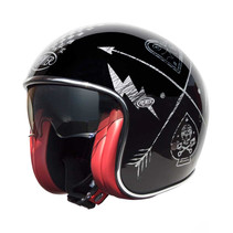 vintage NX silver chromed jet helmet