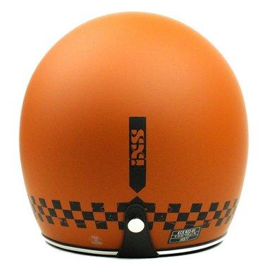 IXS HX 77 2.0 race jet helmet matt orange