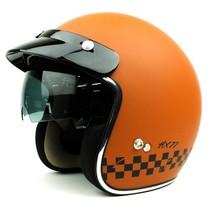 HX 77 2.0 race jet helmet matt orange