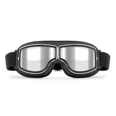 CRG zwart leren cruiser motorbril