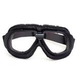 CRG retro, black leather motor goggles