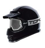 Torc black & white mojave classic retro motorbril