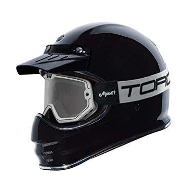 Torc black & white mojave classic retro motor goggle