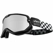 black checkers mojave classic retro motor goggle