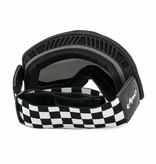 Torc black checkers mojave classic retro motor goggle