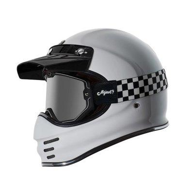 Torc black checkers mojave classic retro motorbril