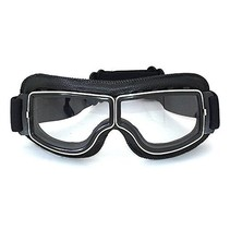 black leather cruiser motor goggles