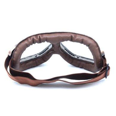 CRG vintage, bruin leren motorbril