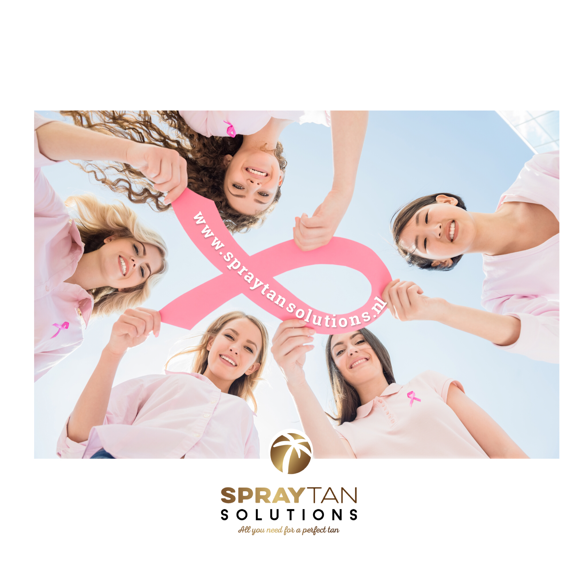 spray tan solutions pink ribbon actie