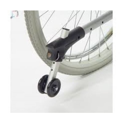 Anti-kiep wielen voor rolstoel