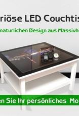 LED Couchtisch mit Leuchtmotiv