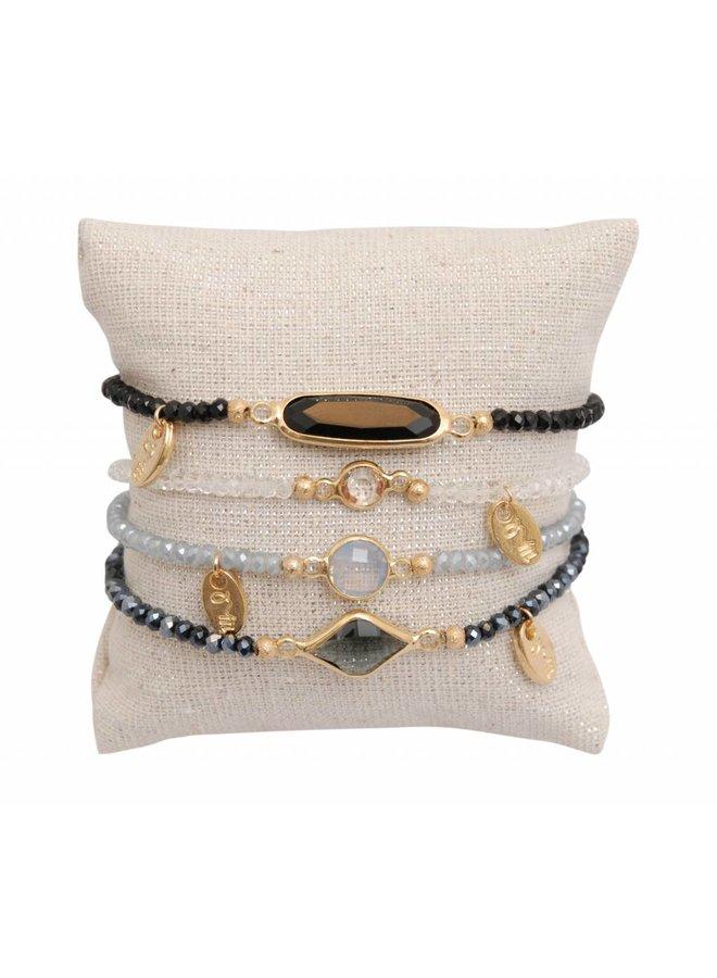 minimalistic embrace cristal stone set 1