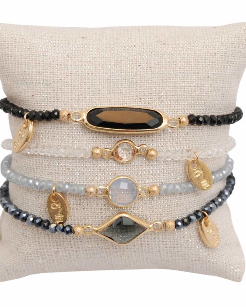 Jozemiek ® minimalistic embrace cristal stone set 1
