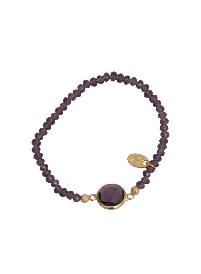 Jozemiek Cristal Stone Circle Purple