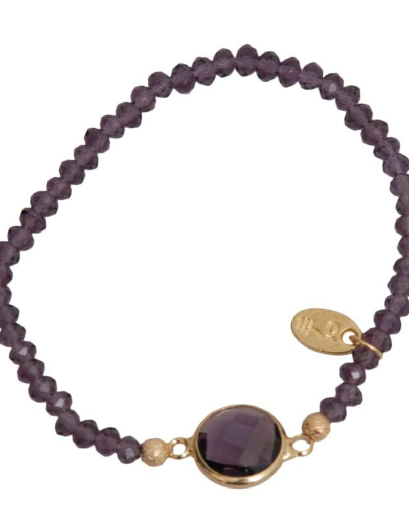 Jozemiek ® Jozemiek Cristal Stone Circle Purple