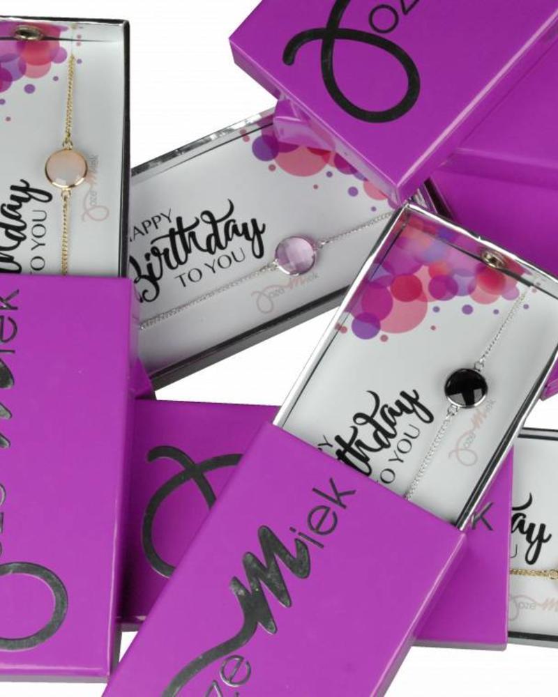 Jozemiek ® Happy birthday!Armband in originele geschenkverpakking