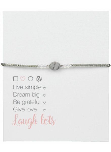 Jozemiek ® Jozemiek Silver Bead Bracelet Open Square - Copy - Copy - Copy