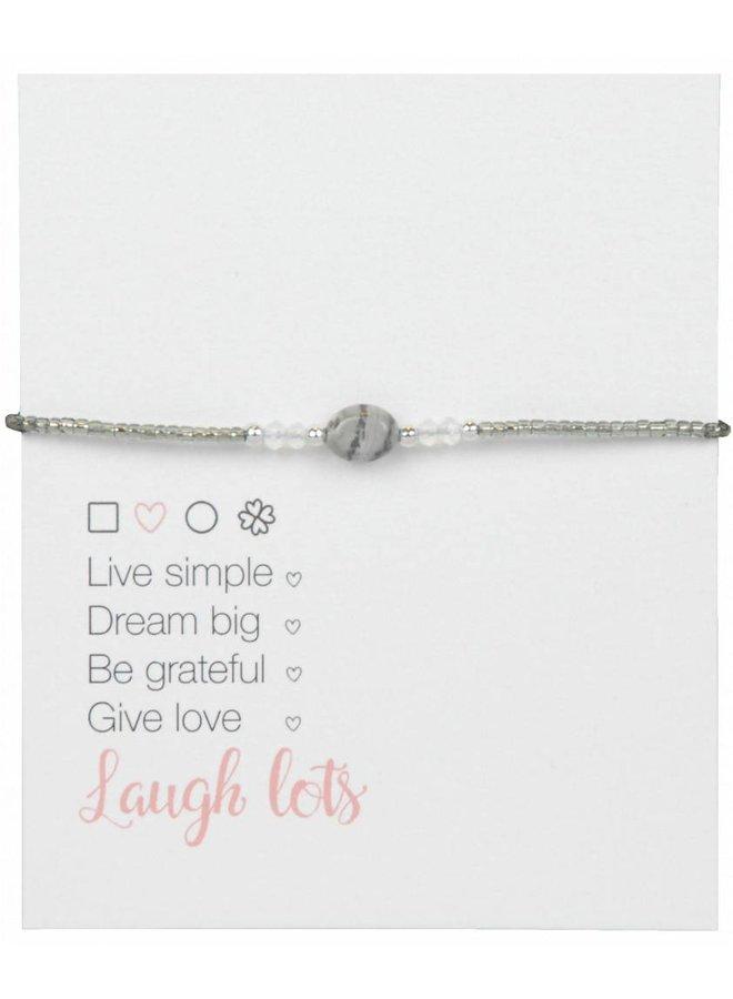 Jozemiek Natural Stone Bracelet Gray l LIMITED EDITION