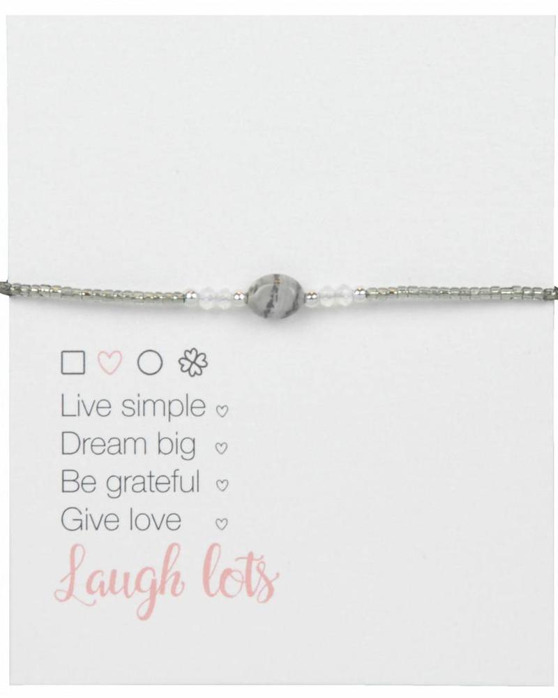Jozemiek ® Jozemiek Naturel Stone Bracelet Grey l LIMITED EDITION