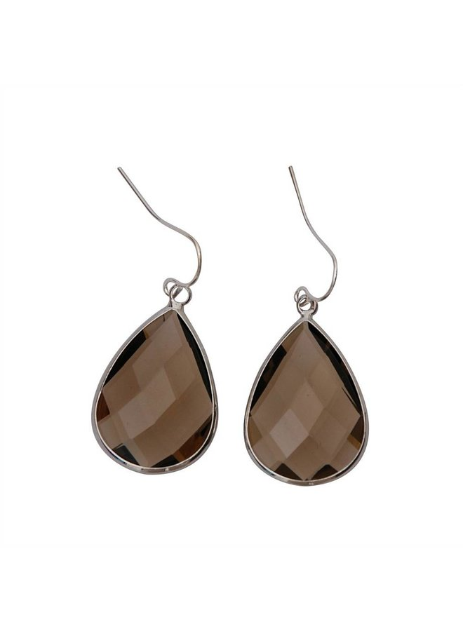 Dare to be fabulous earring teardrop Taupe