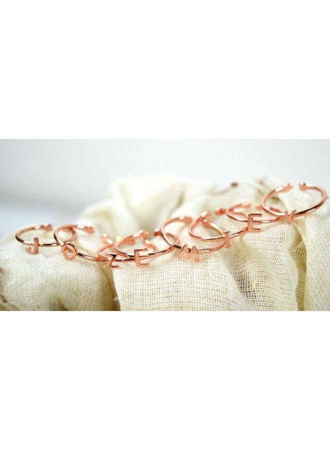 Jozemiek initiaal  Ring rosé